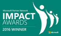 2016 Microsoft Canada Enterprise Cloud Platform Innovation IMPACT Award