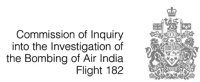 Commission of Inquiry into the Investigation of the Bombing of Air India Flight 182