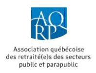 Association québécoise des retraité(e)s des secteurs public et parapublic (AQRP)