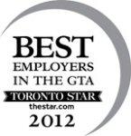 Best Employer in the GTA - 2012
