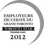 Employeurs de choix du Grand Toronto - 2012